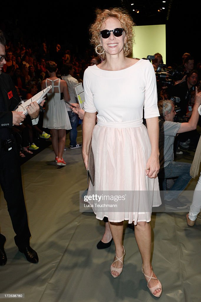 Katja Riemann attends the Minx By Eva Lutz Show during the Mercedes-Benz Fashion Week Spring/Summer 2014 at the Brandenburg Gate on July 3, 2013 in Berlin, Germany.