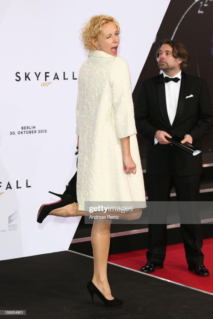 Katja Riemann attends the 'Skyfall' Germany premiere at Theater am Potsdamer Platz on October 30, 2012 in Berlin, Germany.