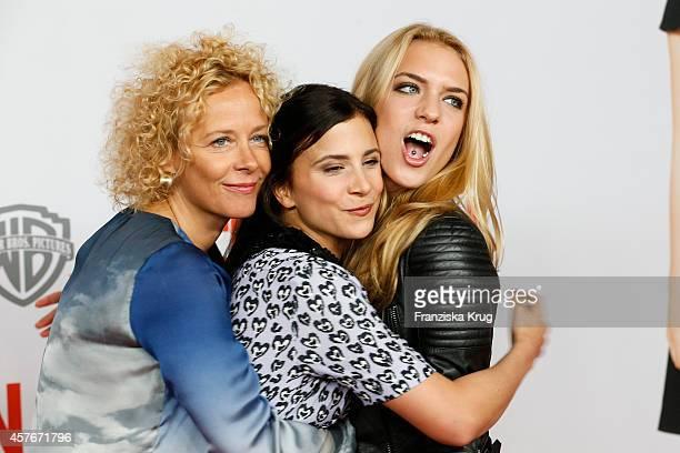 Katja Riemann Aylin Tezel and Paula Riemann attend the 'Coming In' Premiere in Berlin on October 22 2014 in Berlin Germany