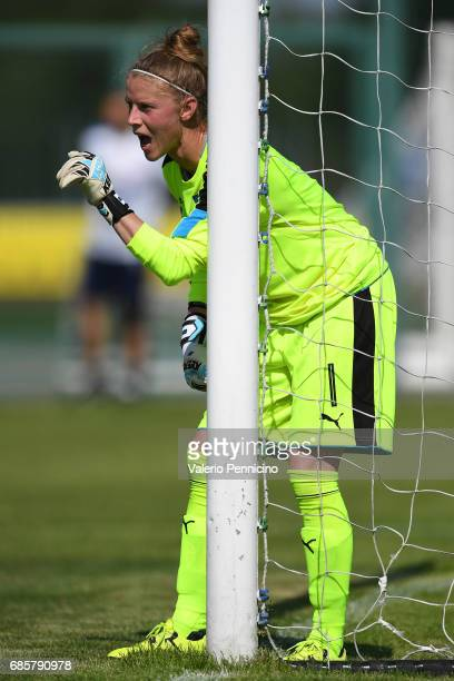 Katja Schroffenegger of Italy Women issues instructions during the friendly match between Italy Women and Italy U23 Women at Novarello Training...