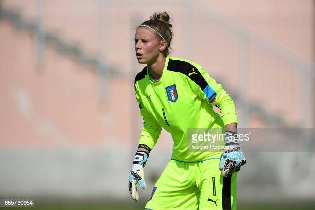 Katja Schroffenegger of Italy Women looks on during the friendly match between Italy Women and Italy U23 Women at Novarello Training Center on May 16...