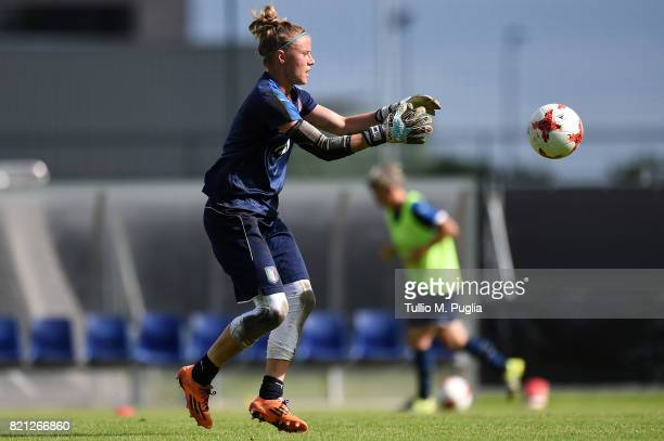 Katja Schroffenegger of Italy women's national team in action during a training session during the UEFA Women's EURO 2017 at De Zwervers training...