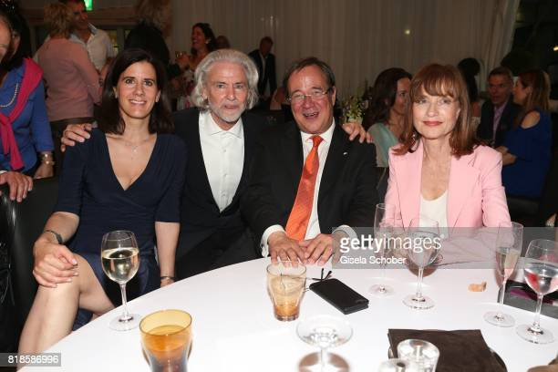 Katja Suding CEO Lambertz Hermann Buehlbecker Armin Laschet Prime Minister of North RhineWestphalia and Isabelle Huppert during the media night of...