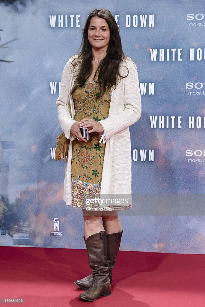 Katja von Garnier attends the 'White House Down' Germany premiere at CineStar on September 2, 2013 in Berlin, Germany.