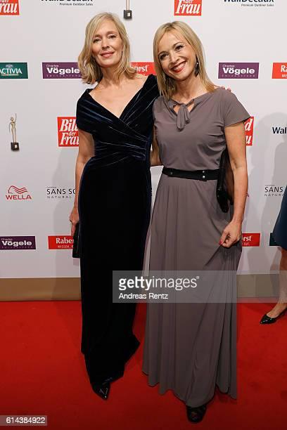 Katja Weitzenboeck and Katharina Abt attend the 'Goldene Bild der Frau' award at Stage Theater on October 13 2016 in Hamburg Germany