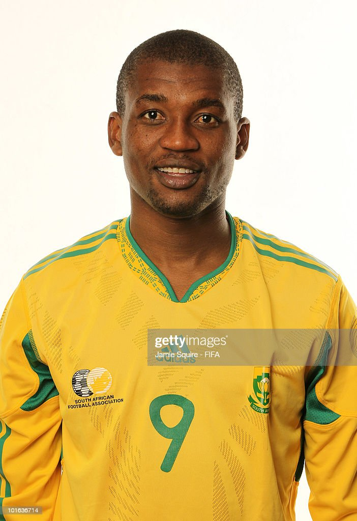 <a gi-track='captionPersonalityLinkClicked' href=/galleries/search?phrase=Katlego+Mphela&family=editorial&specificpeople=4501352 ng-click='$event.stopPropagation()'>Katlego Mphela</a> of South Africa poses during the official FIFA World Cup 2010 portrait session on June 4, 2010 in Johannesburg, South Africa.