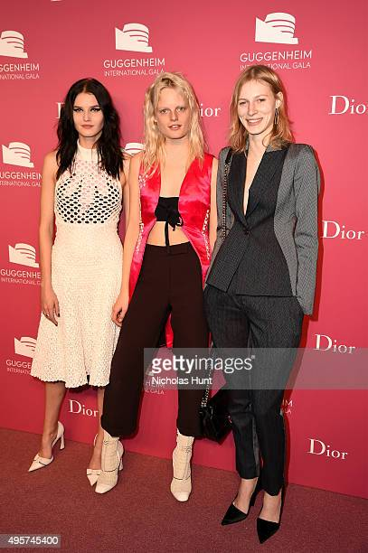 Katlin Aas Hanne Gaby Odiele and Julia Nobis attend the 2015 Guggenheim International Gala PreParty made possible by Dior at Solomon R Guggenheim...