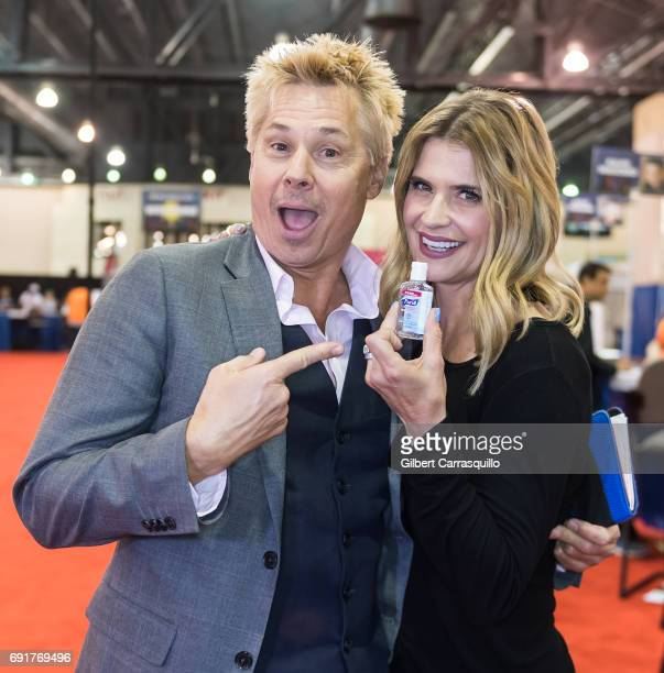 Kato Kaelin and actress Kristy Swanson attend Wizard World Comic Con Philadelphia 2017 Day 2 at Pennsylvania Convention Center on June 2 2017 in...