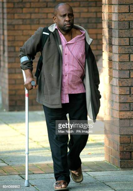 Kato Solomon of Holloway north London arrives at London's Harrow Crown Court to be sentenced today after he falsely pretended to be wheelchairbound...