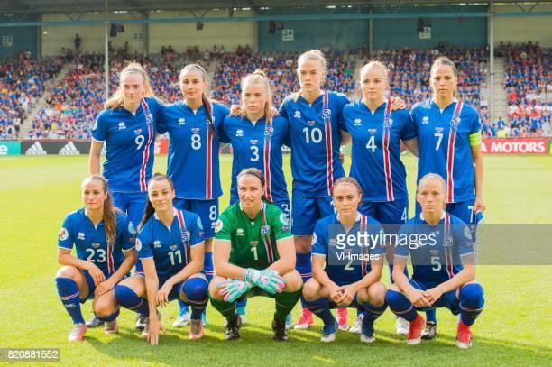 Katrin Asbjornsdottir of Iceland women Sigridur Gadarsdottir of Iceland women Ingibjorg Sigurdardottir of Iceland women Dagny Brynjarsdottir of...