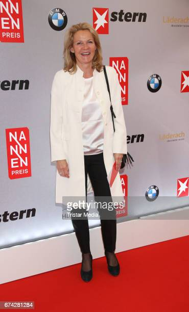 Katrin Aust during the Henri Nannen Award red carpet arrivals on April 27 2017 in Hamburg Germany