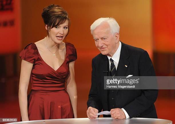 Katrin Bauerfeind and Richard Freiherr von Weizsaecker during the annual Corine awards at the Prinzregenten Theatre on November 24 2009 in Munich...