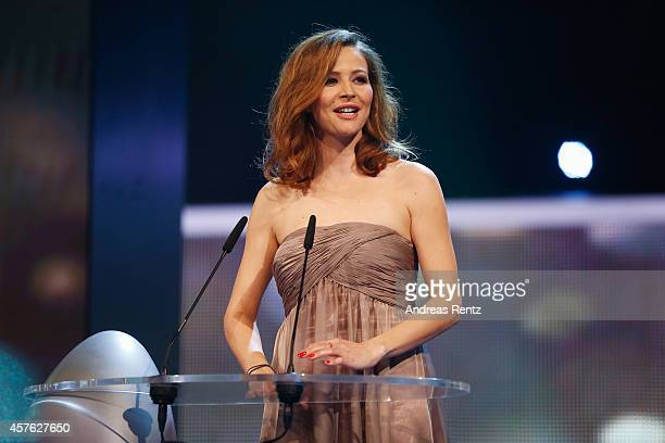 Katrin Bauerfeind attends the 18th Annual German Comedy Awards at Coloneum on October 21 2014 in Cologne Germany The show will be aired on RTL on...