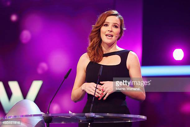 Katrin Bauerfeind attends the 19th Annual German Comedy Awards at Coloneum on October 20 2015 in Cologne Germany