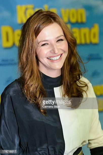 Katrin Bauerfeind attends the 'Koenig von Deutschland' Berlin premiere at Kino International on August 27 2013 in Berlin Germany