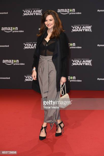 Katrin Bauerfeind attends the premiere of the Amazon series 'You are wanted' at CineStar on March 15 2017 in Berlin Germany