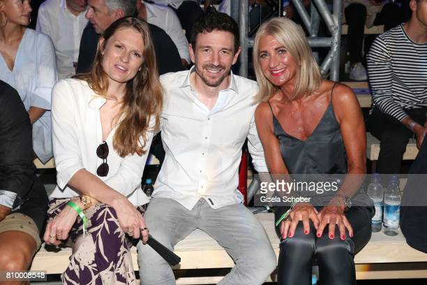 Katrin Berben and her husband Oliver Berben and Anja Gedat during the 50th anniversary celebration of Marc O'Polo at its headquarters on July 6 2017...