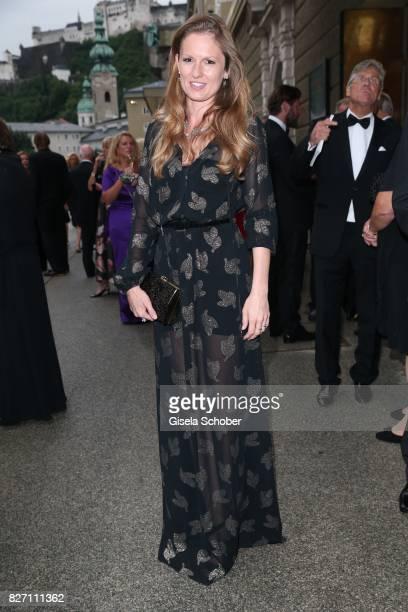 Katrin Berben attends the 'Aida' premiere during the Salzburg Opera Festival 2017 on August 6 2017 in Salzburg Austria