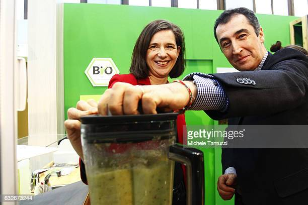 Katrin GoeringEckard and Cem Ozdemir Fraction chairman and Chairman of the Green Party visit the Guene Woche or Green Week Agricultural fair Trade on...