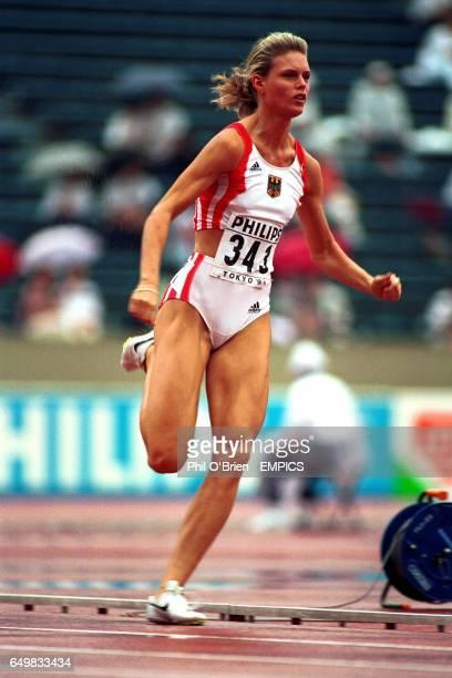 Katrin Krabbe Germany 200m qualifying heats
