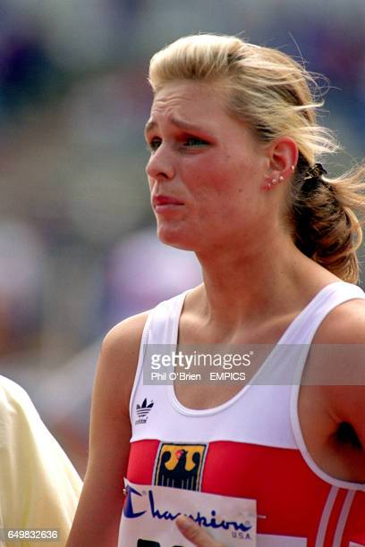 Katrin Krabbe Germany after her defeat in the 100m
