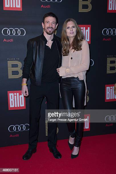 Katrin Kraus and Oliver Berben attend the BILD 'Place to B' Party at Grill Royal on February 8 2014 in Berlin Germany