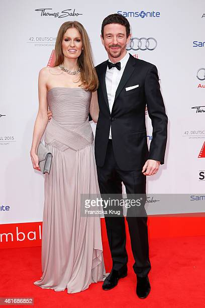 Katrin Kraus and Oliver Berben attend the German Film Ball 2015 on January 17 2015 in Munich Germany