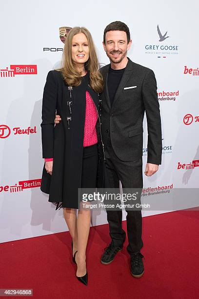 Katrin Kraus and Oliver Berben attend the Medienboard BerlinBrandenburg Reception at Ritz Carlton on February 7 2015 in Berlin Germany