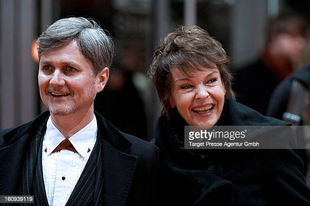 Katrin Sass and guest attend the premiere of 'The Grandmaster' during the 63rd Berlinale International Film Festival at the Berlinale Palast on...