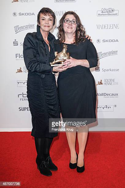 Katrin Sass and Katrin Behr attend Madeleine at Goldene Henne 2014 on October 10 2014 in Leipzig Germany