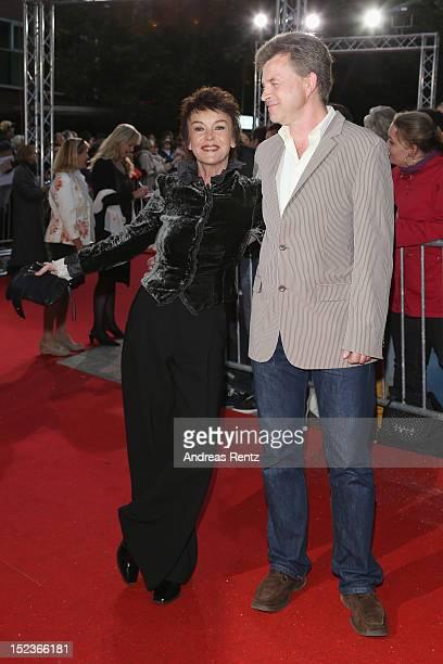 Katrin Sass and partner Jens attend for the 'Goldene Henne' 2012 award on September 19 2012 in Berlin Germany