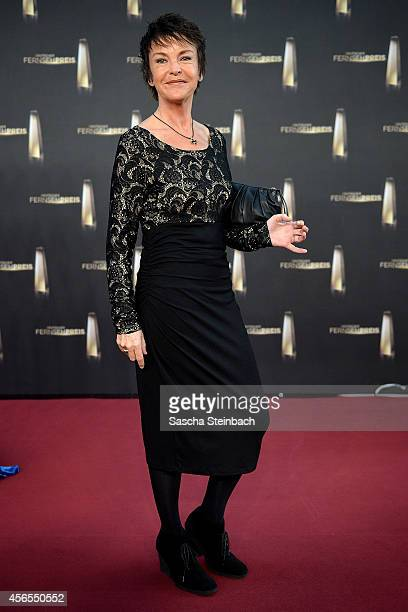 Katrin Sass arrives at the 'Deutscher Fernsehpreis 2014' at Coloneum on October 2 2014 in Cologne Germany