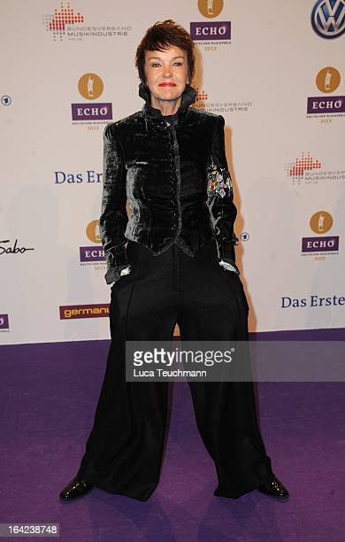 Katrin Sass attends the Echo Award 2013 at Palais am Funkturm on March 21 2013 in Berlin Germany