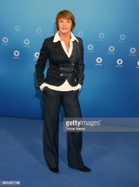 Katrin Sass attends the Photo Call to 'Der Donnerstags Krimi Im Ersten' at Briese Studios on September 8 2017 in Hamburg Germany