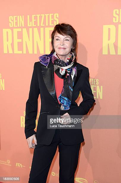 Katrin Sass attends the 'Sein letztes Rennen' Premiere at Kino in der Kulturbrauerei on October 7 2013 in Berlin Germany