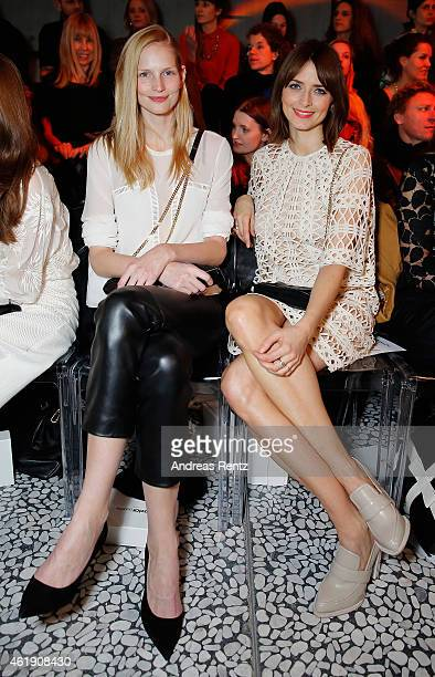 Katrin Thormann and Eva Padberg attend the Kaviar Gauche Show during the MercedesBenz Fashion Week Berlin Autumn/Winter 2015/16 at Palazoo Italia on...