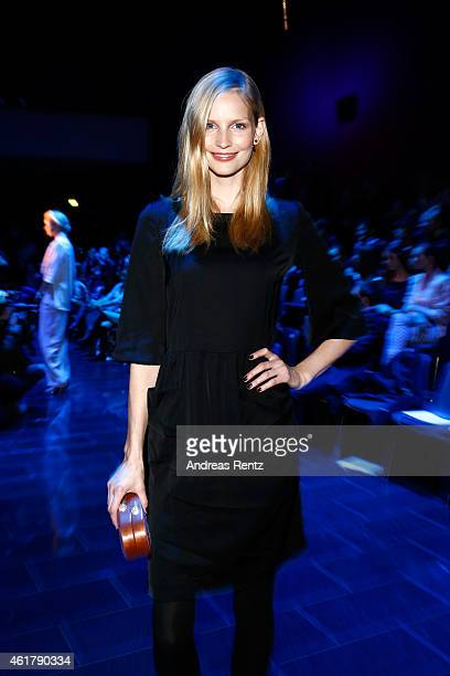 Katrin Thormann attends the Kilian Kerner show during the MercedesBenz Fashion Week Berlin Autumn/Winter 2015/16 at Kosmos on January 19 2015 in...