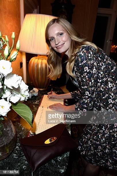 Katrin Thormann attends the Mulberry cocktail party in Berlin's flagship store at Mulberry Store on September 19 2013 in Berlin Germany