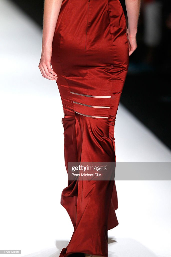 <a gi-track='captionPersonalityLinkClicked' href=/galleries/search?phrase=Katrin+Thormann&family=editorial&specificpeople=5625214 ng-click='$event.stopPropagation()'>Katrin Thormann</a> walks the runway at Minx By Eva Lutz show during Mercedes-Benz Fashion Week Spring/Summer 2014 at Brandenburg Gate on July 3, 2013 in Berlin, Germany.
