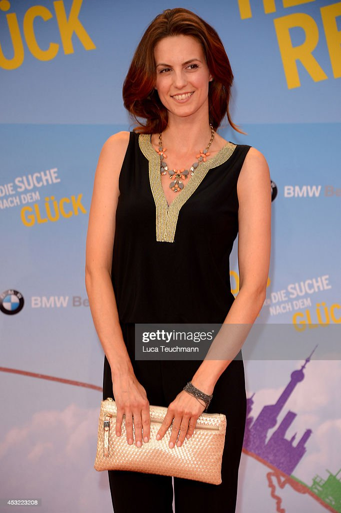 Katrin Wrobe attends the premiere of the film 'Hector and the Search for Happiness' (German title: 'Hectors Reise') at Zoo Palast on August 5, 2014 in Berlin, Germany.