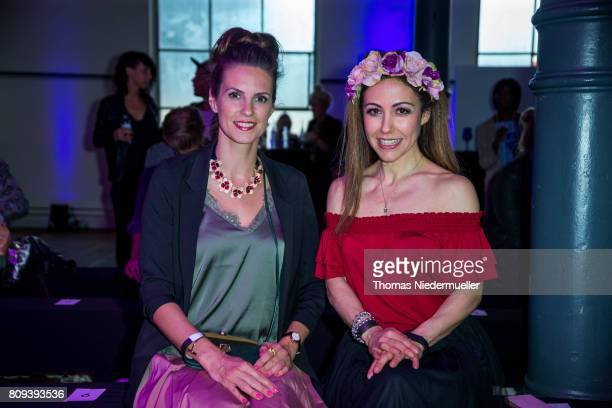 Katrin Wrobel and Anastasia Zampounidis attend the Holy Ghost show during the MercedesBenz Fashion Week Berlin Spring/Summer 2018 at Heeresbaeckerei...