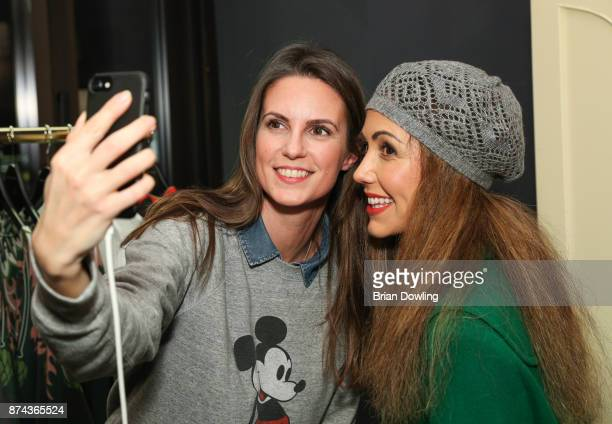 Katrin Wrobel and Anastasia Zampounidis attend the Marcel Ostertag store opening event on November 14 2017 in Berlin Germany
