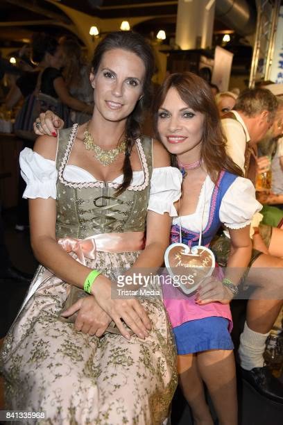 Katrin Wrobel and Jean Bork during the Angermaier TrachtenNacht at Hofbraeuhaus on August 31 2017 in Berlin Germany