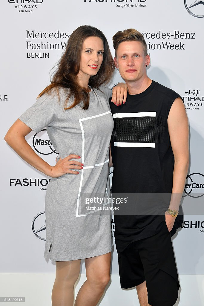 Katrin Wrobel and Lars Urban attend the Odeur show during the Mercedes-Benz Fashion Week Berlin Spring/Summer 2017 at Erika Hess Eisstadion on June 28, 2016 in Berlin, Germany.