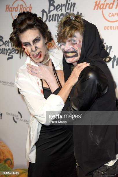 Katrin Wrobel and Lars Urban during the Halloween party by Natascha Ochsenknecht at Berlin Dungeon on October 23 2017 in Berlin Germany