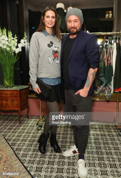 Katrin Wrobel and Marcel Ostertag attend the Marcel Ostertag store opening event on November 14 2017 in Berlin Germany