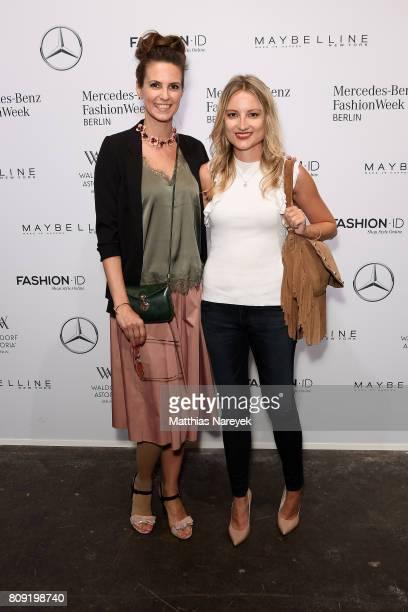 Katrin Wrobel and Vanessa Eichholz attend the Rebekka Ruetz show during the MercedesBenz Fashion Week Berlin Spring/Summer 2018 at Kaufhaus Jandorf...