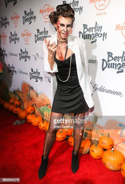 Katrin Wrobel attends the Halloween party hosted by Natascha Ochsenknecht at Berlin Dungeon on October 23 2017 in Berlin Germany