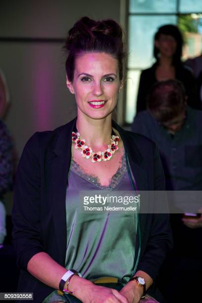 Katrin Wrobel attends the Holy Ghost show during the MercedesBenz Fashion Week Berlin Spring/Summer 2018 at Heeresbaeckerei on July 5 2017 in Berlin...