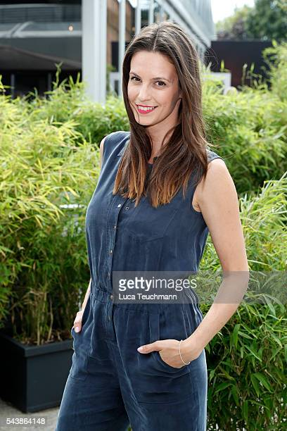 Katrin Wrobel attends the Lena Hoschek show during the MercedesBenz Fashion Week Berlin Spring/Summer 2017 at Erika Hess Eisstadion on June 30 2016...